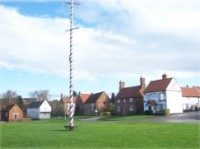 Maypole in Wellow Nottinghamshire